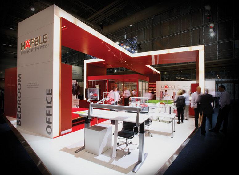 Hardware Exhibition Stall : Hafele exhibition stand designex