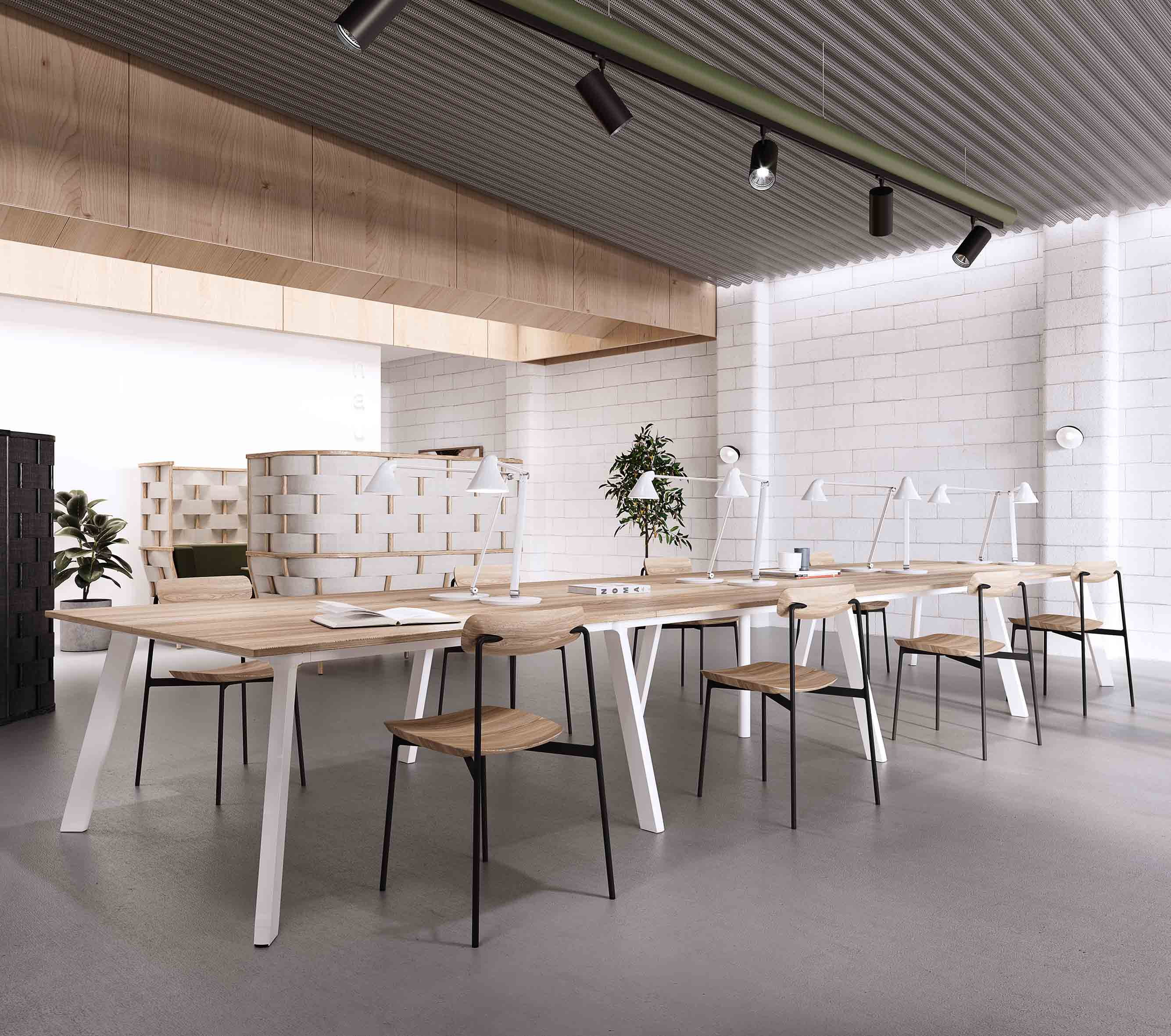 04_Chameleon table 140×70 and SIA chairs