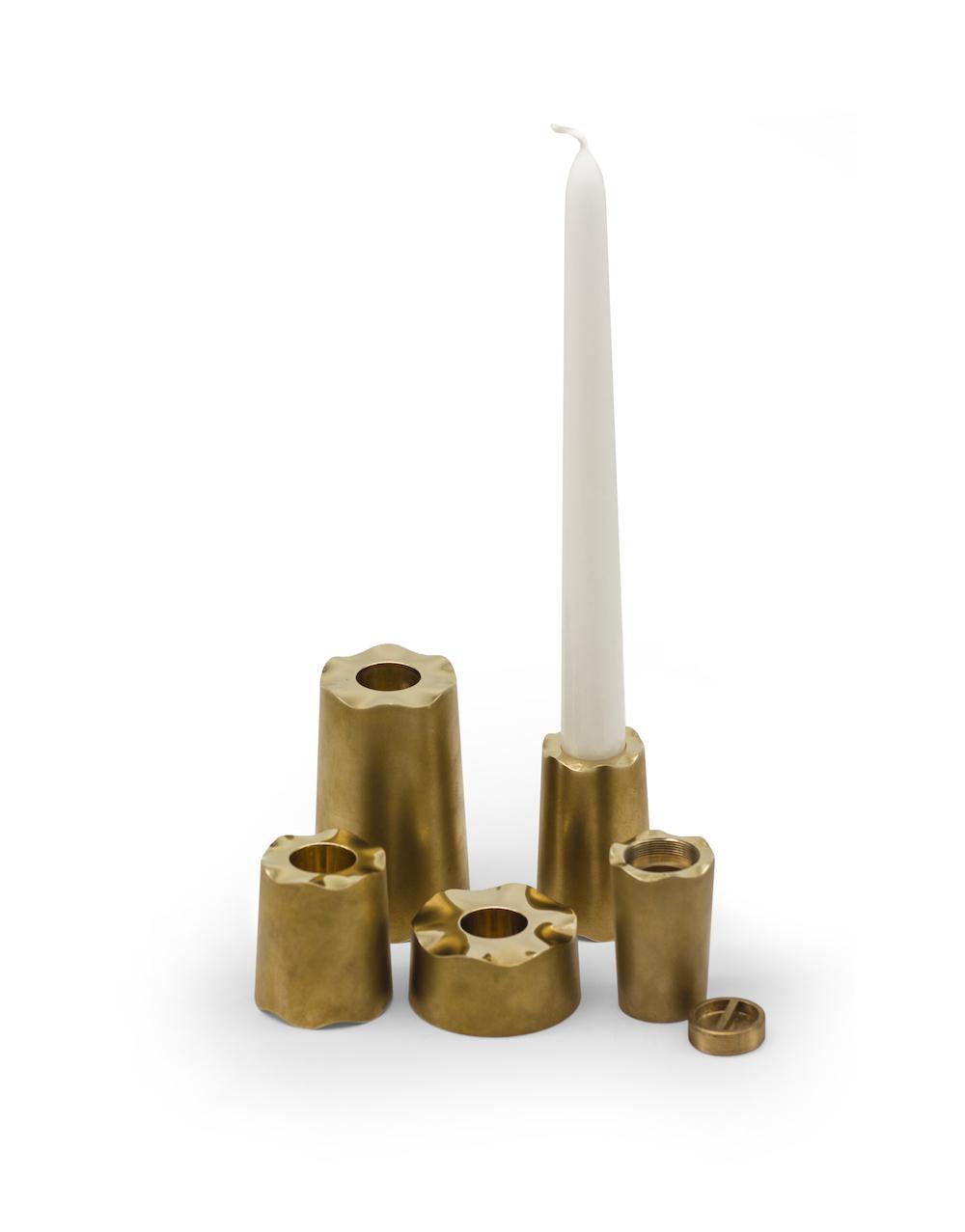 TMS_Matte Brass candelabra